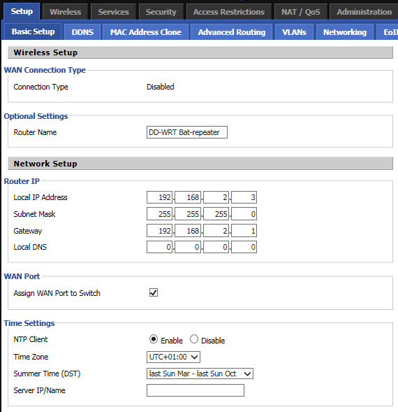 DD-WRT Forum :: View topic - Setting up a Linksys E2500 with