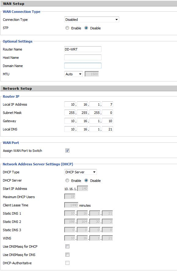 DD-WRT Forum :: View topic - Problem with DHCP