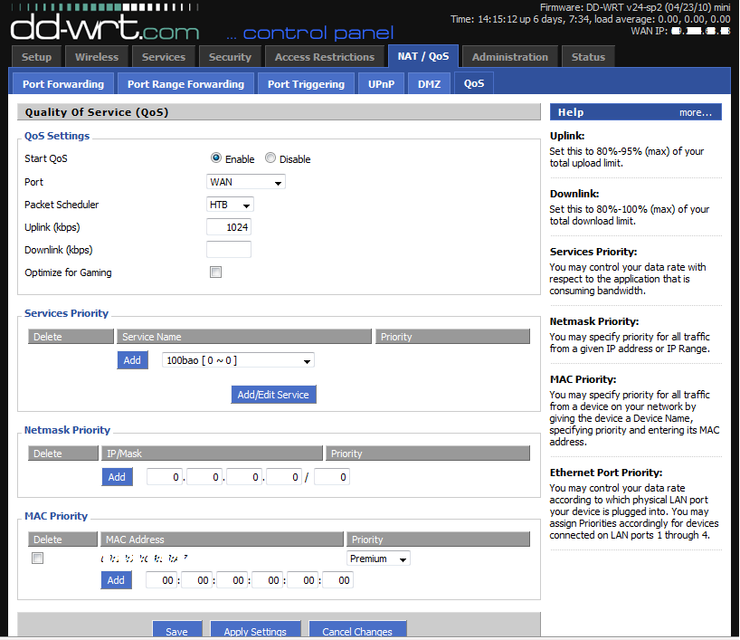 DD-WRT Forum :: View topic - WNR3500v2 and Vonage QOS