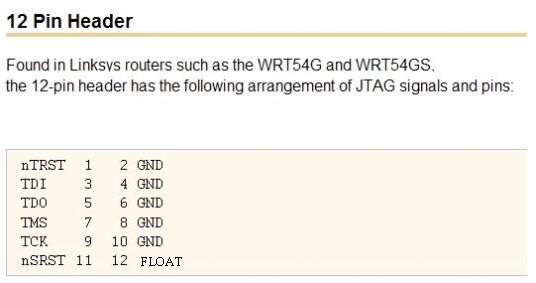DD-WRT Forum :: View topic - JTAG pinouts and guides ! ! !