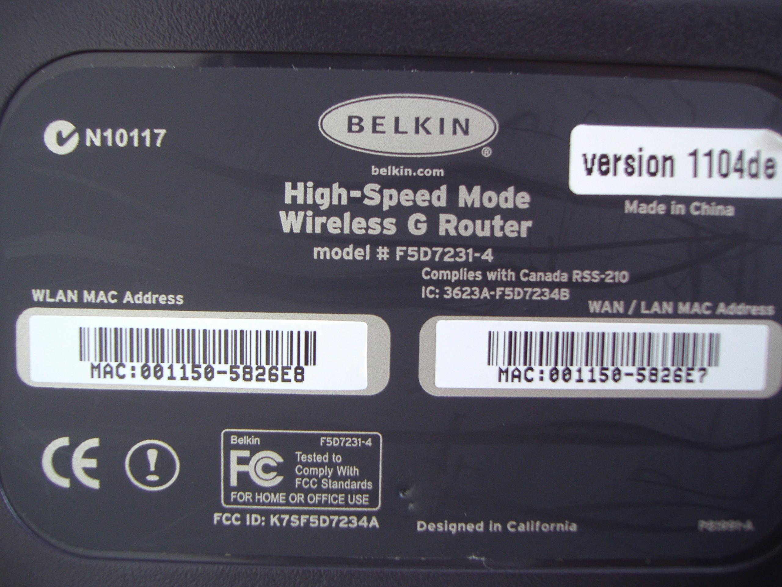 BELKIN F5D7231 4 DESCARGAR DRIVER