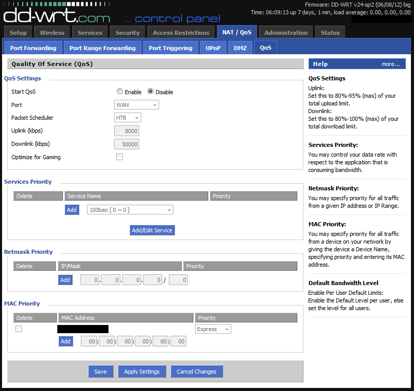 DD-WRT Forum :: View topic - Enabling QoS breaks router  Software