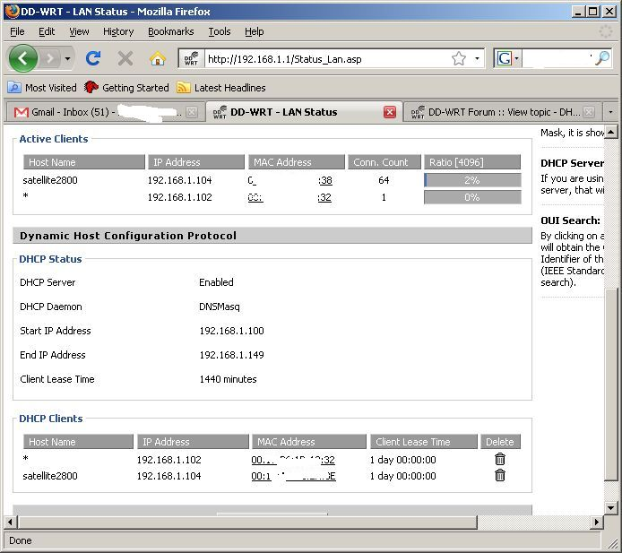 DD-WRT Forum :: View topic - DHCP Leases - Do Not Delete