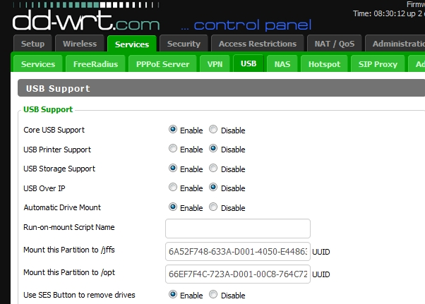 DD-WRT Forum :: View topic - Mounting USB devices without