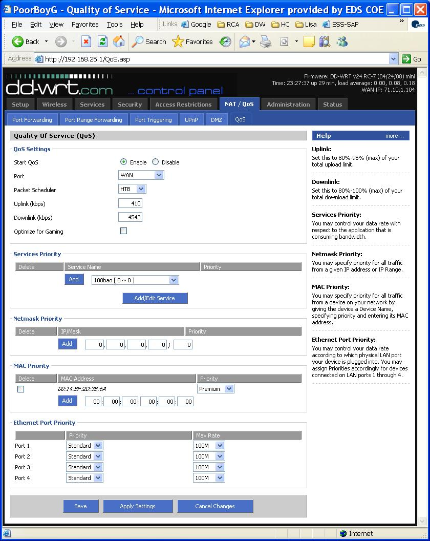 DD-WRT Forum :: View topic - Vonage and QoS finally figured
