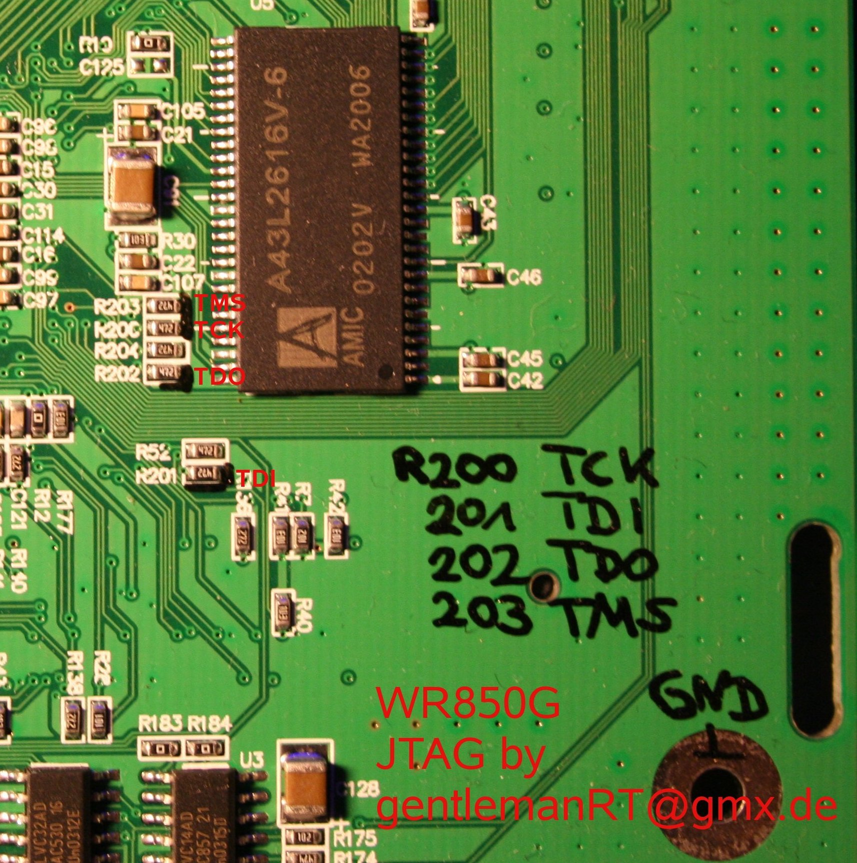 DD-WRT Forum :: View topic - Motorola WR850G v1 JTAG Pinout